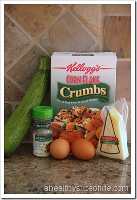 Ingredients for Zucchini Chips