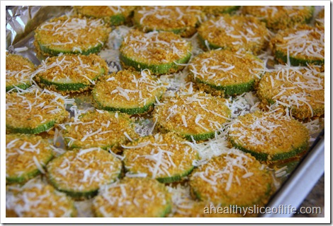 Oven Fried Zucchini Chips