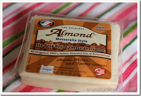 almond cheese, mozzarella style
