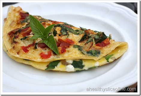 Greek omelet close up