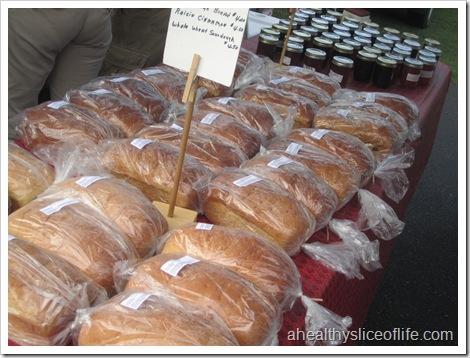 farmers market fresh bread