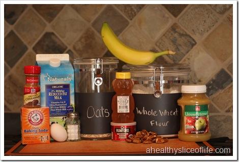 banana nut oatmeal pancakes ingredients