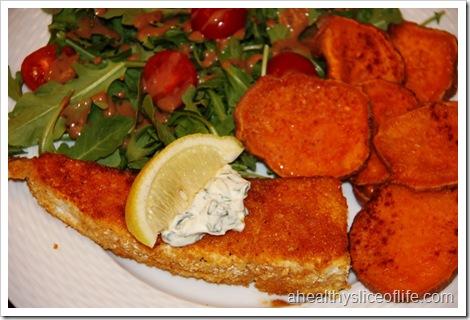 cornflake encrusted halibut