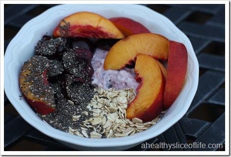 fruit oat and yogurt bowl