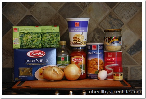 spinach stuffed shells ingredients