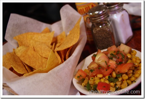 Cabo Fish Taco Noda - chips and corn salsa