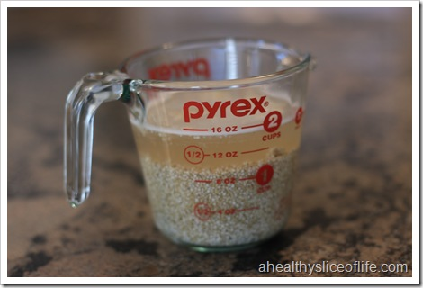 soaking quinoa