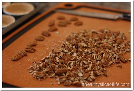 Mini Pecan Pies- chopped pecans