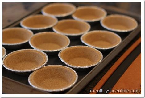 Mini Pecan Pies- empty pie crusts