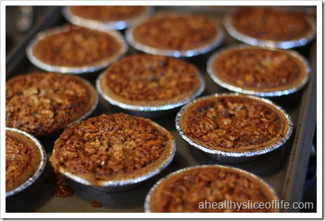 Mini Pecan Pies- pies after baking