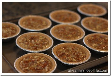 Mini Pecan Pies- pies before baking