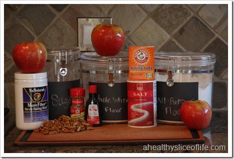 Vegan Apple Pecan Cake - ingredients