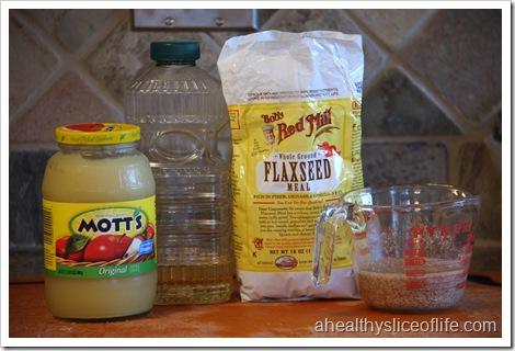 Vegan Apple Pecan Cake - ingredients continues