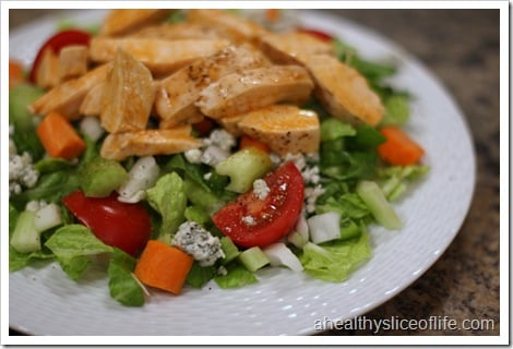 homemade buffalo chicken salad