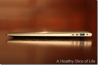 Asus Ultrabook side view
