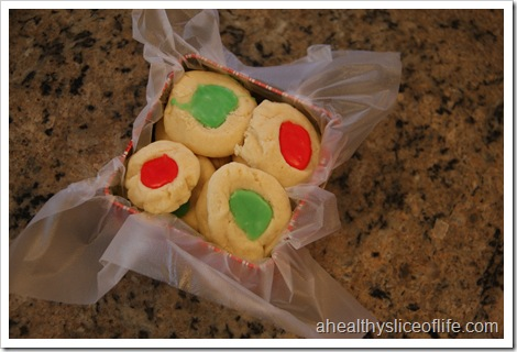 Cream Cheese Thumpprint Cookies - package