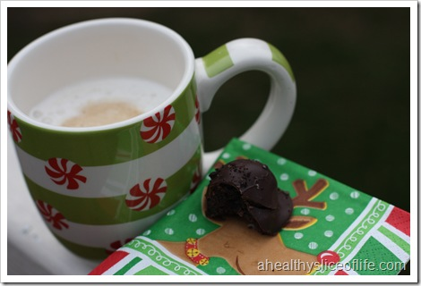 chocolate truffle and coffee