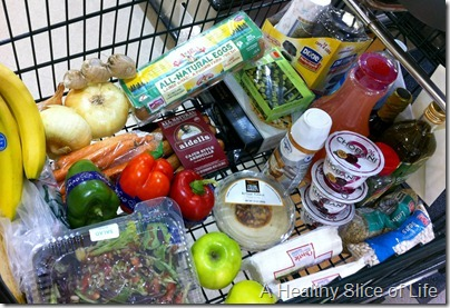 Harris Teeter grocery cart