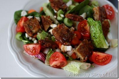 veggie burger salad