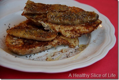 grilld banana french toast with chia