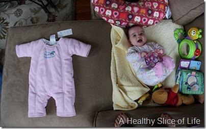 Baby Merlin's Magic Sleepsuit and baby