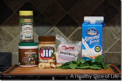 Peanut butter banana green monster- ingredients