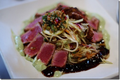 Restaurant X seared tuna