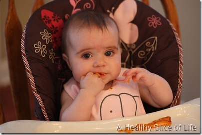 baby led solids sweet potato