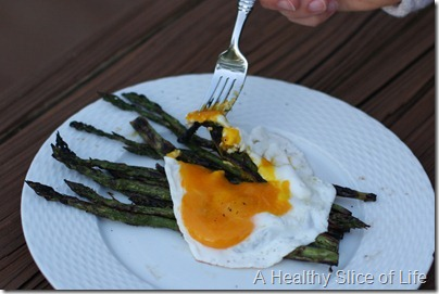 fancy asparagus and egg
