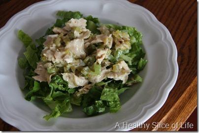 tuna salad on greens