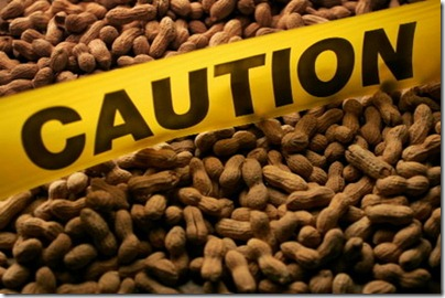 caution peanuts