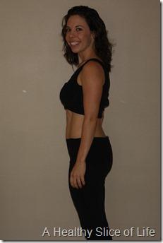 9 month postpartum body- side view b