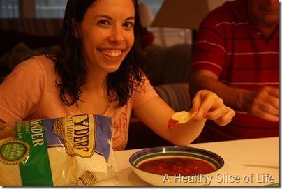 Bald Head Island- WIAW chips and salsa