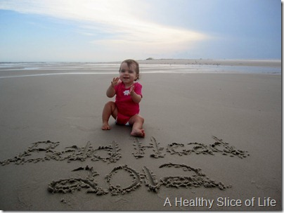 Bald Head Island- hailey in sand