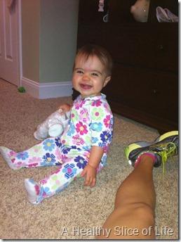 Hailey 10 months- cheesin