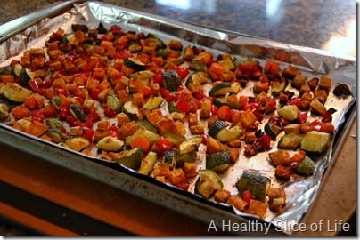 Munchkin Meals- Lunch- blw- roasted vegetables- after roasting