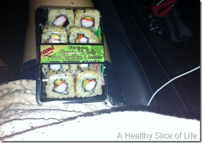 WIAW- Trader Joes california roll