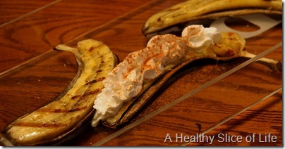 WIAW- grilled banana and whipped cream