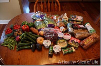 restocking the fridge- all groceries