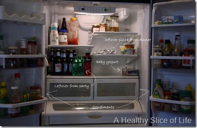 restocking the fridge- empty fridge .