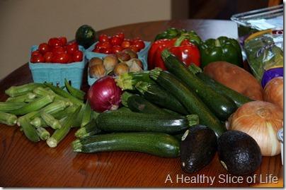 restocking the fridge- farmers market haul