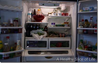 restocking the fridge- full fridge