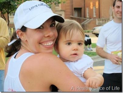 Davidson Run for the Green 10k 2012- hailey at finish