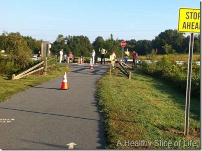 Davidson Run for the Green 10k 2012- halfway