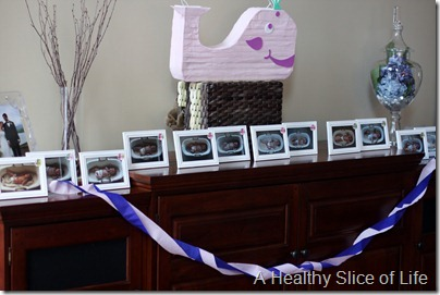 Hailey's 1st birthday- monthly picture frames