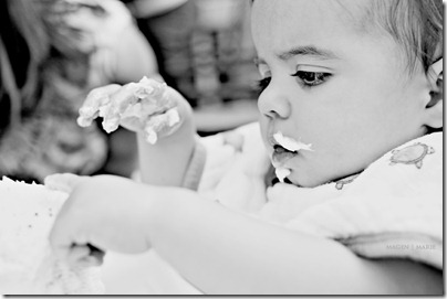 Magen Marie Photography- Hailey's 1st birthday- exploring the cake