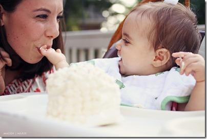 Magen Marie Photography- Hailey's 1st birthday- feeding mom