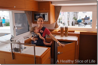 Annapolis Boat Show 2013- Lagoon 450 galley