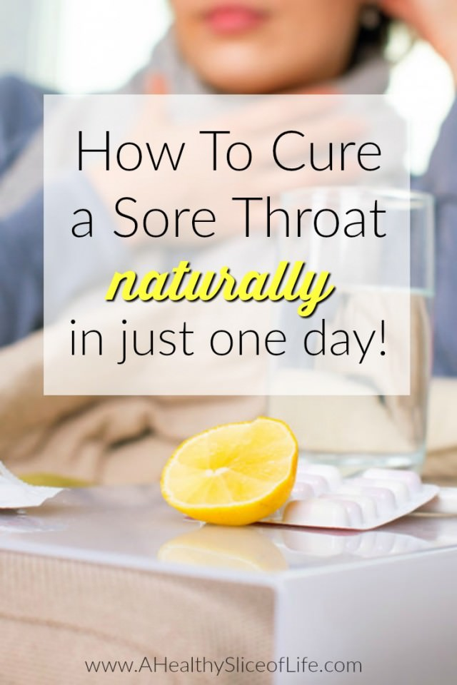 how to cure a sore throat naturally in one day