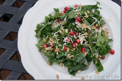 overnight kale salad- perfect winter salad